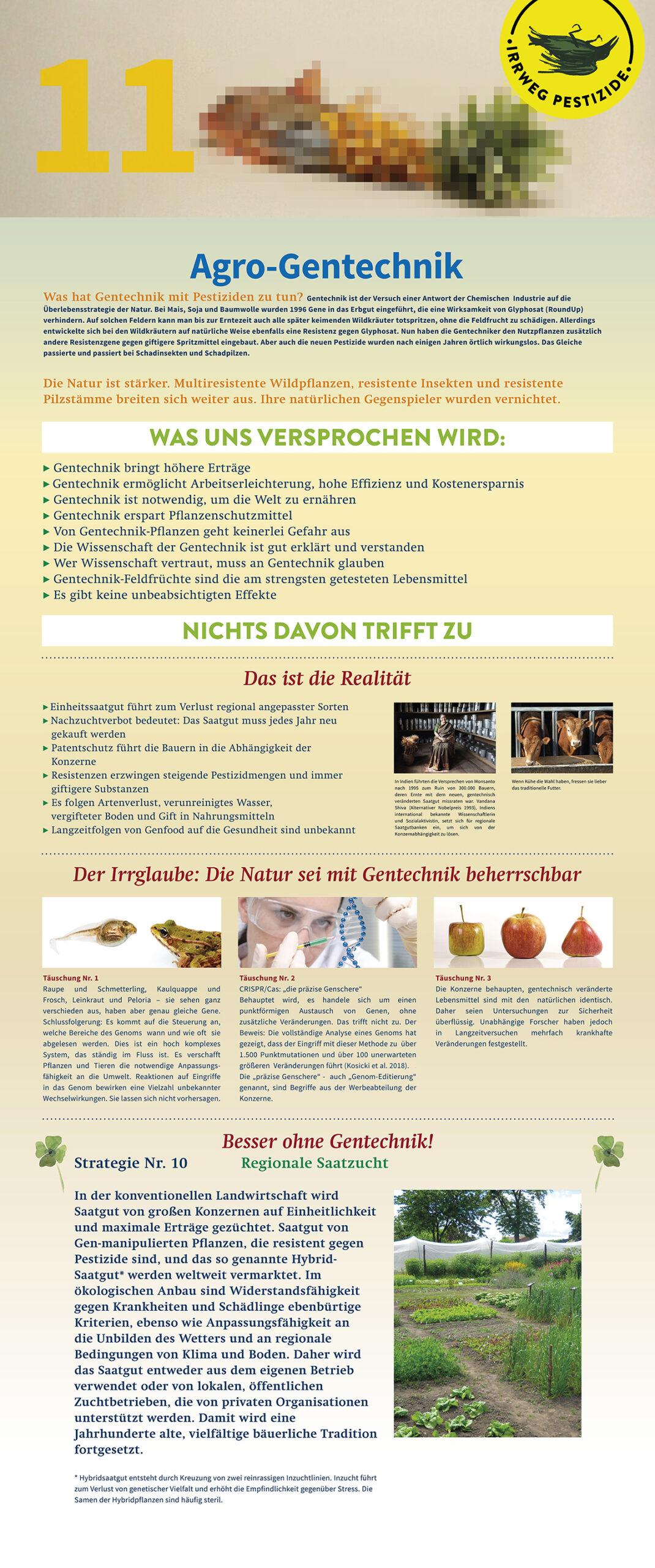 Irrweg Pestizide - Agro gentechnik