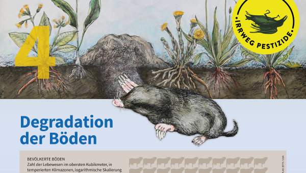 Irrweg Pestizide Degradation der Böden