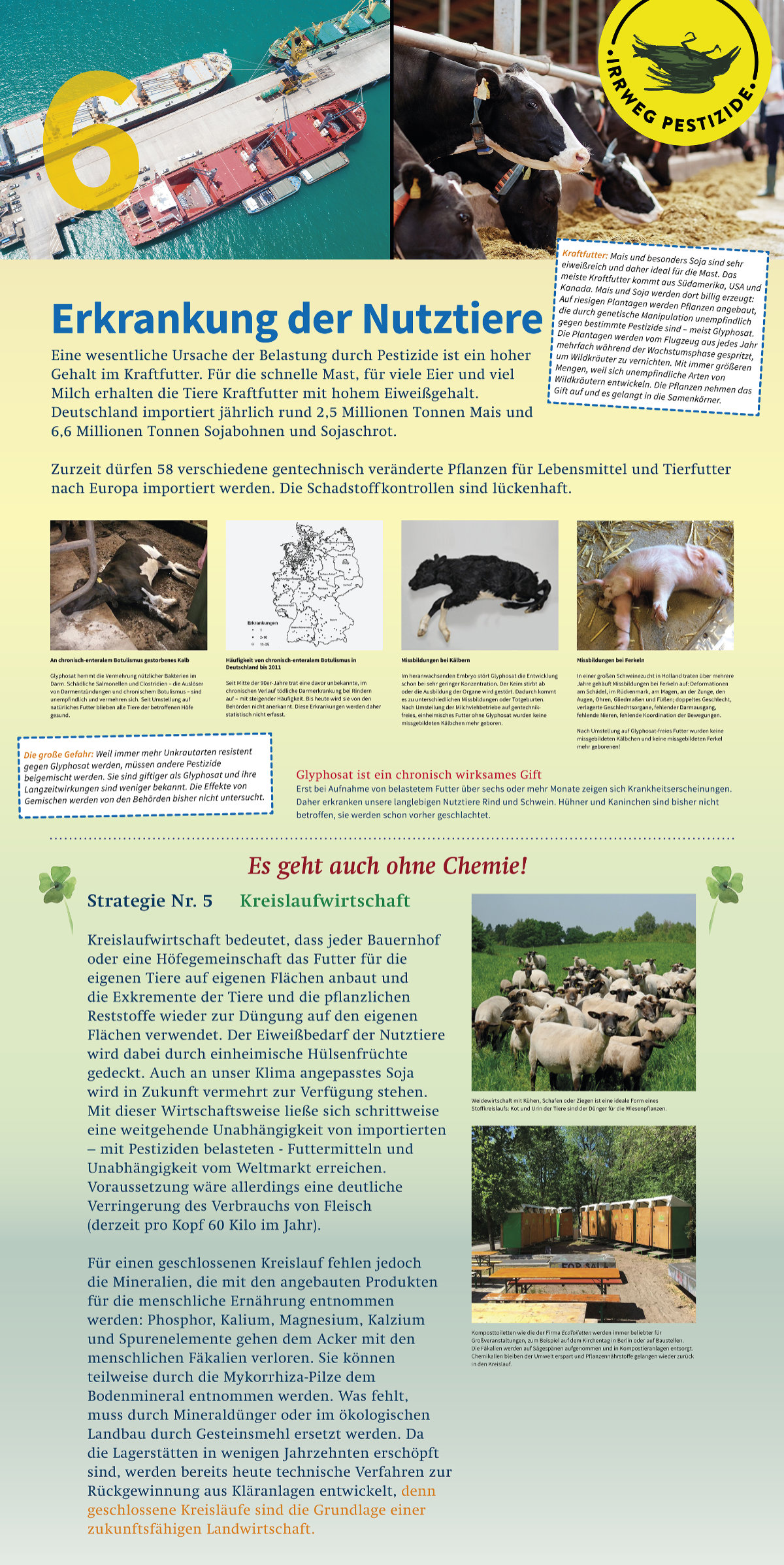 Irrweg Pestizide Erkrankung der Nutztiere