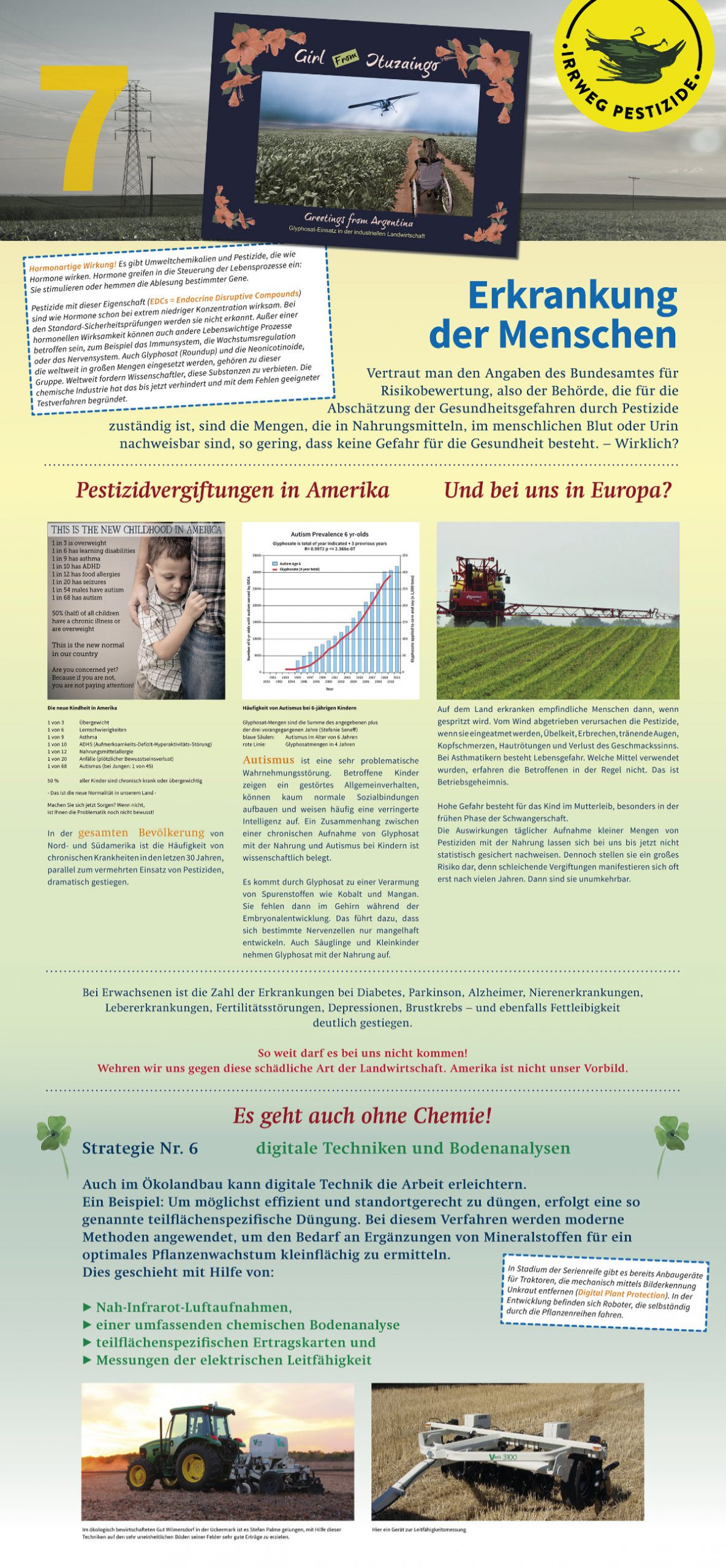 Irrweg Pestizide Erkrankung des Menschen