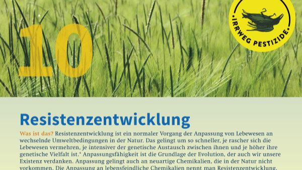 Irrweg Pestizide Resistenzentwicklung